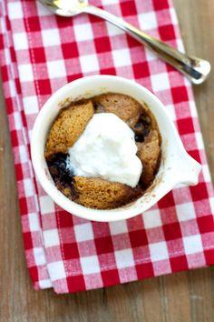 Healthy Aperture - Blog - [The Recipe ReDux] (High Protein) Tart Cherry Nutty Mug Cake - maybe add cocoa powder?