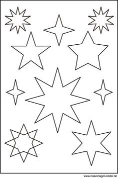 Sternen Vorlage