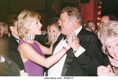 Princess diana dances with store owner Mike Wilkie at a Gala dinner at the Museum for History in Chicago June 1996 - Stock Image
