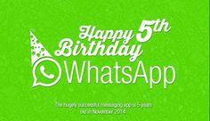 Infographic celebrates WhatsApp 5th birthday