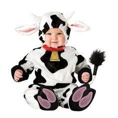 INCHARACTER COSTUMES REF: 6027 VAQUITA BEBE. Incluye traje especial para que cambies el pañal de tu bebe fácilmente, sombrerito con cuernos y orejas y botines antideslizantes. PRECIO COLOMBIA: 130.000