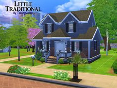 Mod The Sims - Little Traditional - 1 BR 2 BA NoCC
