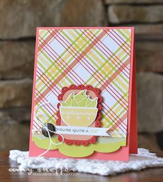 Quite A Pear Card by Amy Sheffer for Papertrey Ink (May 2015)
