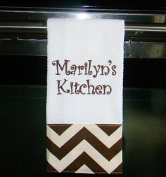 Monogram Kitchen Towels or Hand Towels Kitchen Towels Embroidery Hoop Nursery, Embroidery Monogram, Embroidery Hoop Art, Cross Stitch Embroidery, New Embroidery Designs, Machine Embroidery Projects, Embroidery Ideas, Christmas Hand Towels, Monogram Towels