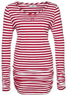 Addition Long sleeved top striped red $150 #zalando #tops