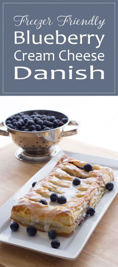 Mornings can be hard, so treat yourself with this freezer friendly recipe for blueberry cream cheese danish! Make ahead and freeze for later use!