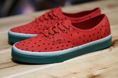 76f6ac919d VANS AUTHENTIC WATERMELON Green Sneakers