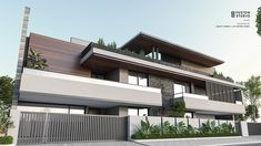 Modern Exterior House Designs, Modern House Design, Compound Wall Design, Double House, House Design Pictures, Boundary Walls, Front Elevation, Exterior Colors, Luxury Homes