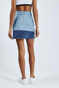 283d6dfecc4b MOTO Colour Block A-Line Shorts - Denim - Clothing - Topshop A Line Shorts