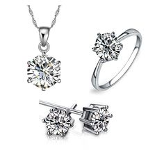 White gold silver  Jewelry  Set Made with Austrian Element Crystals , Factory Price, Worldwide Free Shipping!