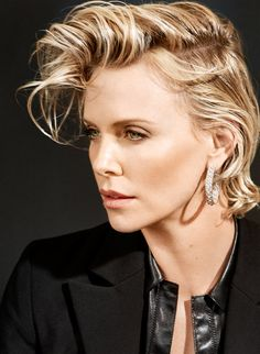 Charlize Theron, photographed by Collier Schorr for V, Summer 2016