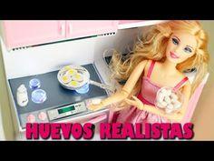Cómo hacer huevos realistas para muñecas - Manualidades para muñecas - YouTube