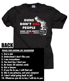 Gift for Father T-shirt Rules To Dating My Daughter Perfect Gift For Dad