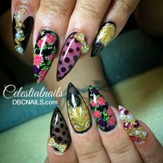 """""""Once Upon I Time...I realized dreams can become reality"""" #nails #nailart #floral"""