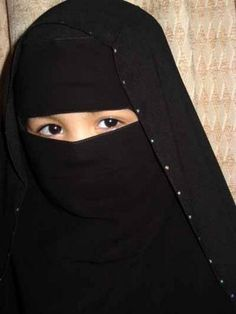 child with niqab