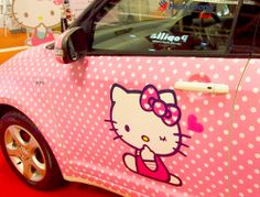 Hello kitty car Ella loves it do't you mom Love ella Hello Kitty Car, Hello Kitty Kitchen, Hello Kitty Items, Here Kitty Kitty, Hamster Names, Wonderful Day, Hello Kitty Collection, Sanrio Characters, Cute Cars