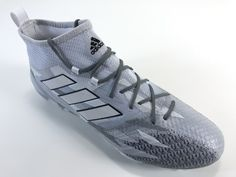 SR4U Reflective Steel Grey Soccer Laces on adidas ACE 17.1 Primeknit Camo Pack