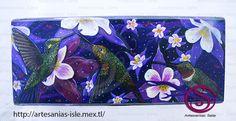 Alhajero de Colibris pintado en acrilico sobre madera Visita: https://www.facebook.com/Artesan%C3%ADas-Sele-456073541137212