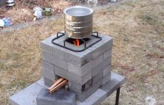 How to build a better brick rocket stove for $10 | 101 Ways to Survive