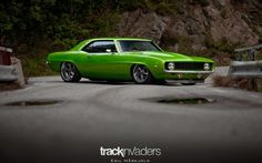 I think this is the best camaro picture I have posted. This pic sums up why the 69 camaro is the coolest muscle car on the planet Green Camaro, Classic Camaro, Rims And Tires, American Muscle Cars, Chevrolet Camaro, Rat Rods, Hot Cars, Custom Cars, Cars Motorcycles
