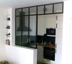 Nos réalisations de verrières dintérieur atelier dartiste Kitchen Interior, Kitchen Design, Doors And Floors, Narrow House, Tiny Apartments, Small Living Rooms, Kitchen Remodel, Small Spaces, Home Furniture