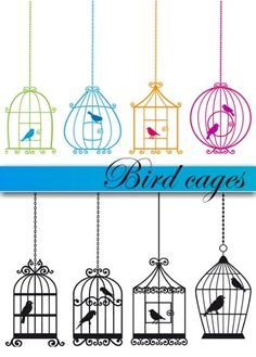 bird cage examples for a love bird shoe, could duplicate a cage and make it a pattern across the shoe