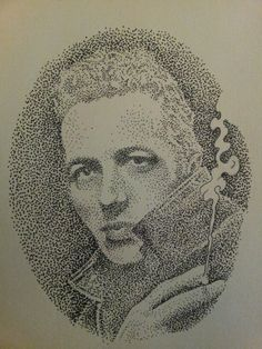 Dotwork portrait of joe strummer from the clash made by eric sundby kunst med puls tatovering