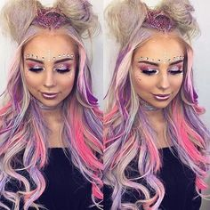 703 Likes 20 Comments Magical Wonderland (Magical Wonderland Clothing) on I Fairy Makeup Clothing Comments Likes Magical Wonderland Alien Makeup, Unicorn Makeup, Mermaid Makeup, Makeup Art, Makeup Tips, Maquillage Halloween, Halloween Makeup, Holiday Makeup, Rave Hair