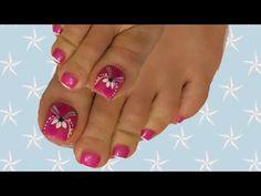uñas de pies decoradas diseño para uñas de los pies - YouTube Toe Nail Designs, Nail Polish Designs, Toe Nails, Nail Art, Enamels, Pretty Toe Nails, Toe Nail Art, Cute Little Girls, Yellow Nails