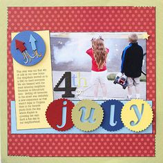 Rocketing Scrapbook Page - like the negative space title