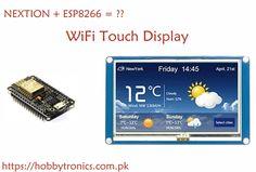 Noob's Guide to Nextion Displays com ESP8266 | NodeMCU | WeMos D1 Mini - Hobbytronics Paquistão