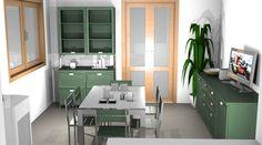 Cucina green by #Scavolini #kitchen #kitchens @Sermobil #design