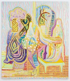 """Michael Berryhill  Egyptian Swing, 2012  58""""x50"""" oil on linen  At Kansas gallery17 May - 23 June, 2012"""