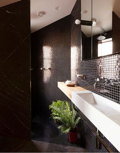 Photography Gallery Sites Long narrow bathroom sink Mosaic tile wall mounted sink fixture wood