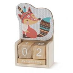 Ξύλινο ημερολόγιο αλεπού ethnic - Κωδ:H840-PR Christening, Toy Chest, Storage Chest, Toys, Home Decor, Activity Toys, Decoration Home, Room Decor, Toy