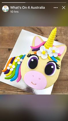 new ideas for cake unicorn pop kid parties Easy Unicorn Cake, Rainbow Unicorn Party, Unicorn Cupcakes, Unicorn Birthday Parties, 5th Birthday, White Chocolate Raspberry Cheesecake, Birthday Sheet Cakes, Cake Drawing, Cake Recipes For Kids