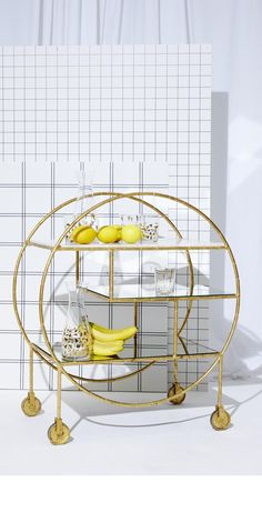 Consider yourself invited: This Luxe Round Bamboo Drinks Trolley will make your dinner party one to remember.