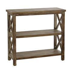 Weathered Natural Wooden Console Table   Kirklands $130