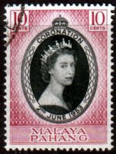 Malaya Pahang Queen Elizabeth II 1953 Coronation Fine Used SG 74 Scott 71 Other Malayan Stamps HERE