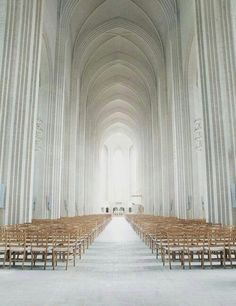 Minimalistic church in Denmark