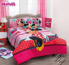 Girls Disney Minnie Mouse Love Comforter Set  ORDER BEFORE WE SELL OUT  @ ilisplace@yahoo.com  35721  Twin size 5 pieces $159.95 + 19.99 shipping all orders 35731 Full size 7 pieces $169.95  58251  Queen size 7 pieces $184.95 #Disney #MinnieMouse