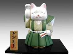 Fukuwarai Beckoning Cat in Samurai costume