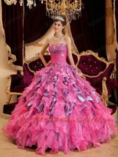 Organza Quinceanera Dress