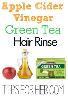 Apple Cider Vinegar Green Tea Hair Rinse - Promote Hair Growth, Restore Shine & Remove Product Buildup