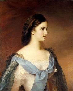 Empress Elisabeth of Austria (1837-1898)  Schrotzberg Franz (1811-1889), ca.1855   Kunsthistorisches Museum, Art Gallery.
