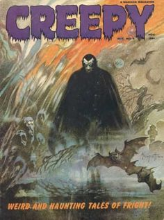 Vampire - Bat - Weird And Haunting Tales Of Fright - Dusk - A Warren Magazine - Frank Frazetta