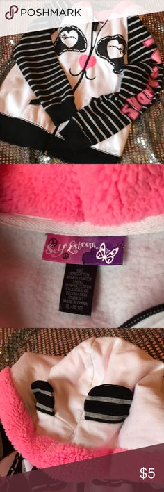 Self esteem panda jacket for girls Self esteem jacket- panda ears on the hood- I ♥️ pandas down the left arm. Very cute! Self Esteem Shirts & Tops Sweatshirts & Hoodies