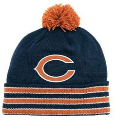 Chicago Bears Throwback Cuffed Pom Knit Cap by Mitchell & Ness. $23.99