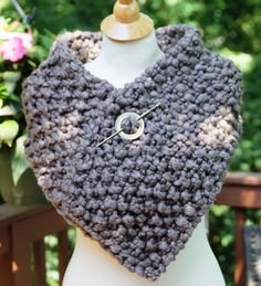 Outlander Season 2 Claire's Scarf, Shawl, Cowl, Wrap, Cowl, Shoulder Warmer in Taupe Color READY TO SHIP by KnitPlayLove on Etsy