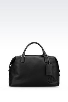 f8417492b064 Giorgio Armani Men WEEKEND BAG IN TUMBLED CALFSKIN
